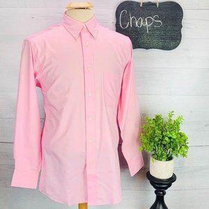 NWT Chaps Dress Shirt Reg Fit Wrinkle Free Pink M